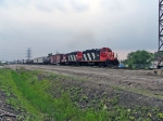 CN 4118 STARTING THE CURVE TO THE HALTON SUB