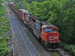 CN 5674 COMING OUT OF BAYVIEW JUNCTION