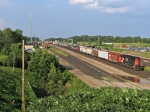 CN 5605 WITH HELPERS ON THE WAY - LEFT TRACK