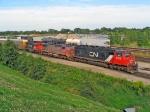 CN 5700, BNSF 849 & CN 6024