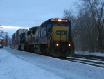 CSX 7634 Q1   first train of the day 8:00 am
