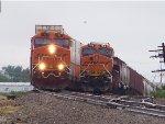 BNSF ES44DC 7437 & BNSF ES44C4 7018