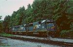 An empty coal train