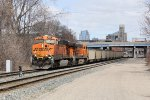 BNSF 6099 & 6417 dig in as they begin to lift N956-31 east
