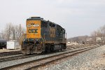 After having it serviced at the house, Y106 brings the 2692 back into the yard as D707 departs east down at Plaster Creek