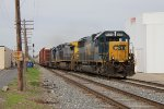 CSX 8599 takes Q326 from the single main to Track 1 as it enters the double track at Grandville