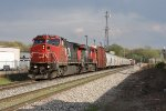 With CN 2167 & 2254 for power, Q335 rolls west into town just past Seymour