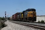CSX 5475 & 556 start the climb up the hill at Fox under the midday sun with Q334-23