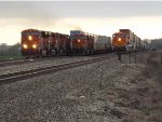 BNSF 7225 3 stack trains