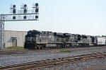 NS 7707 leads train 393