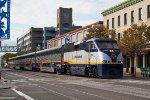 Amtrak 2007 and California Corrider train in Jack London Square