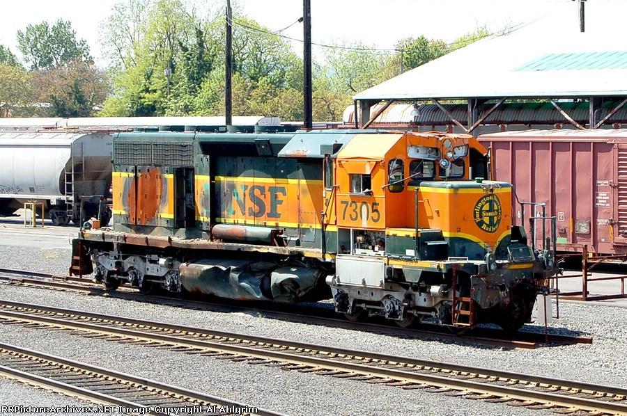 BNSF 7305 Wreck