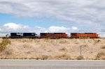 BNSF 4195, 1076 and NS 9485