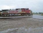 BNSF 623 in the rain EX ATSF