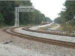 A northbound CSX manifest train at Callahan Junction, FL