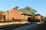 CSX locomotive 5415 screams past the Cartersville, GA, depot
