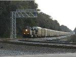 CSX car carrier train at Callahan Junction, FL