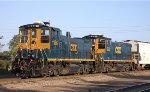 CSX 1186 (EMD MP15AC) and CSX 1222 (EMD MP15T)