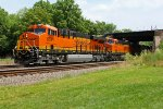 BNSF 6591 Hauls a stack train Wb past peck park!