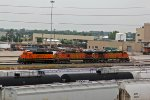 BNSF 2742 Sits on a lashup with 2 Dash9's.
