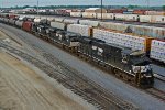 NS 8061 Leads a oil can SB into the yard at Galesburg IL.