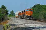 BNSF 6687 Sits waiting on the main.
