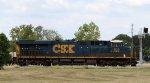 CSX 929 leads train Q464-25 northbound