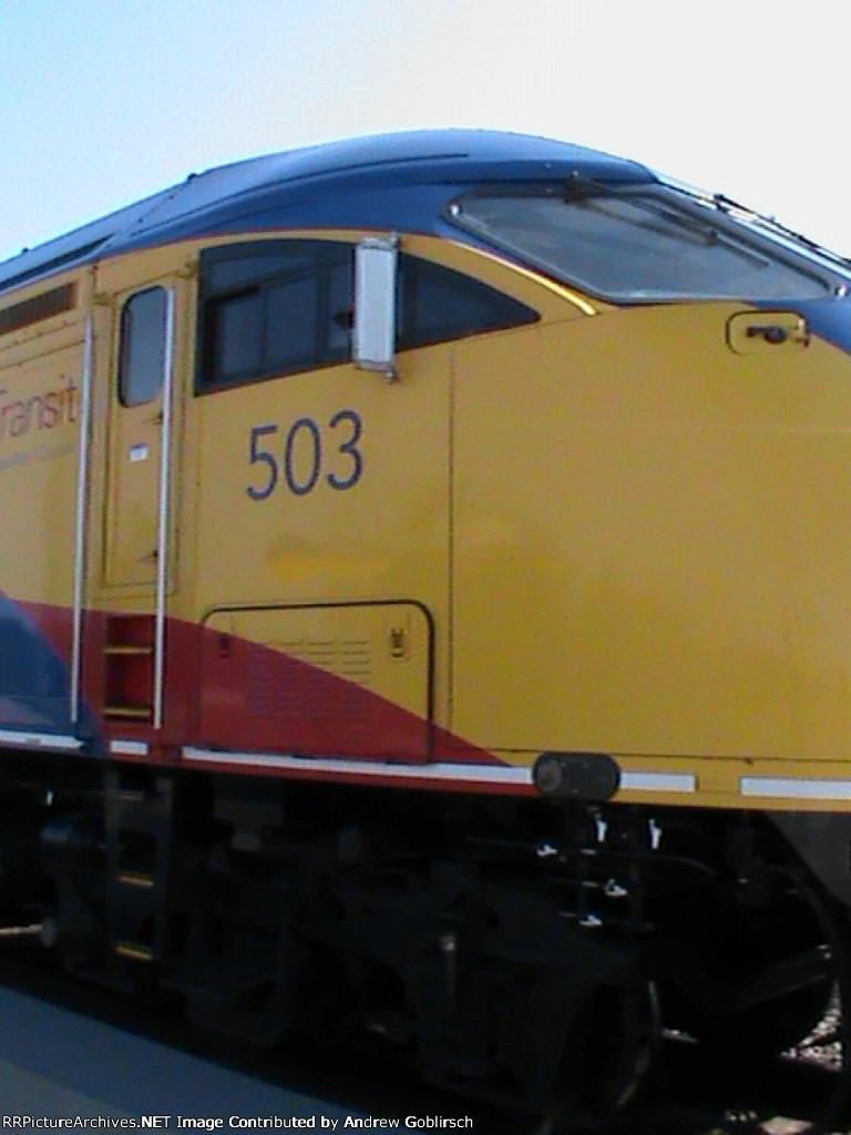 503 Closeup at Coon Rapids Station