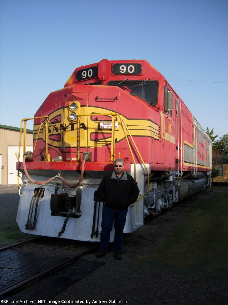 ATSF 90 on Display with My Dad