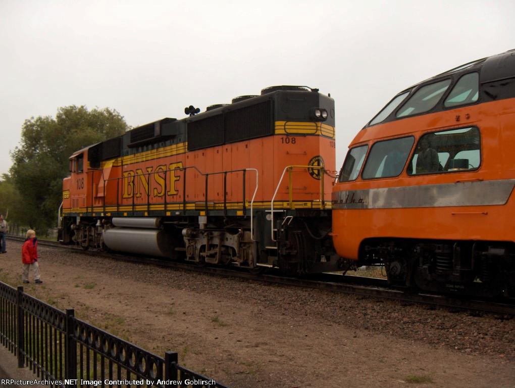 BNSF 108 visit the Depot