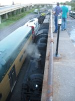SOO 700 sitting and SOO 2719 getting ready for a run