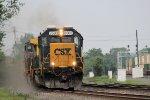 Q356 kicks up the ballast dust hustling eastbound