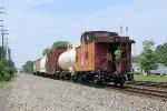 NS local V14 shoves east on track 2 thru town back to Rockport yard