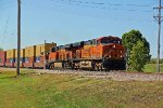 BNSF 7839 Leads a stack toward Saint Louis Mo.