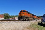 BNSF 6677 Leads the Saint Louis Tulsa train Wb.