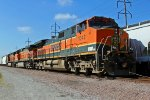 BNSF 1042 Sits on the DAYGAL train at Madison IL.