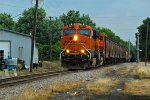 BNSF 7277 Heads up a Nb grain train!