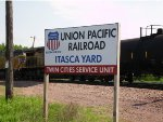 UP Itasca Yard sign