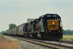 CSX 8073 taking siding for a detoured Q025 intermodal.