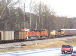 GEVO's BNSF 5742 and BNSF 5812 passes the torch to UP 4304