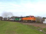 BNSF 4163 is where the green grass grows