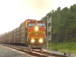 BNSF 805 coming out of the hole