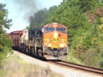 BNSF 5065 running notch eight