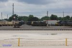 Some yard power sits at the CSX Evansville Yard