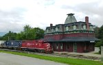 The North Bennington depot (ex-Rutland) makes a great photo prop for railroad photography