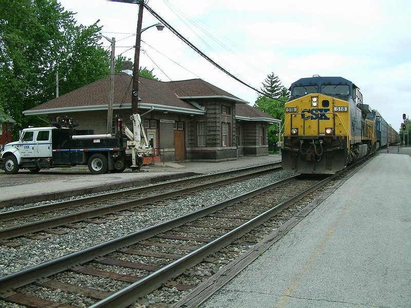 TF Depot shot with Eastbound B&O train