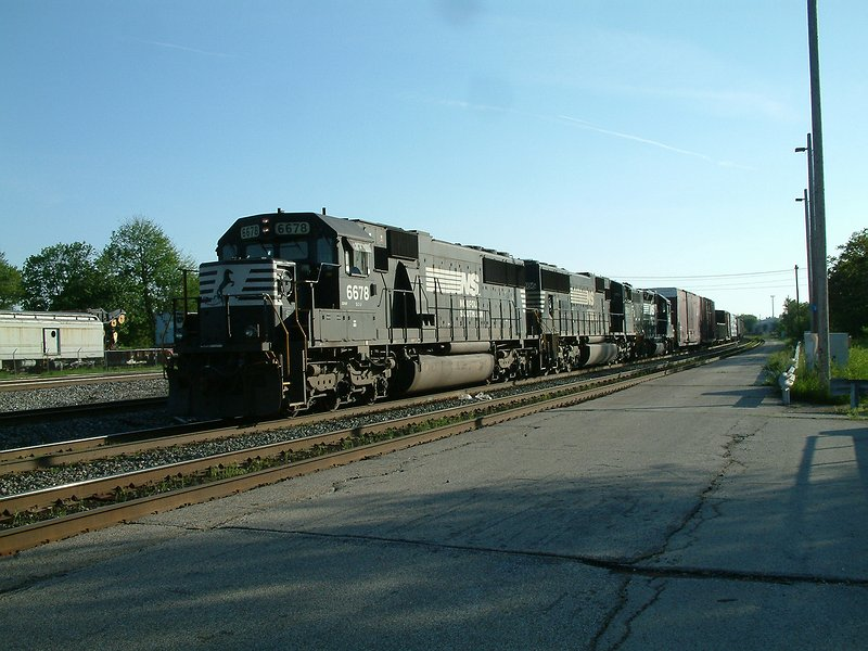 Eastbound departing the yard