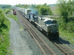 Grey Ghost leads this eastbound stack train