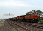 BNSF 6260 unit trash train