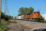 BNSF 4619 Slow's for a meet at Old Monroe Mo.